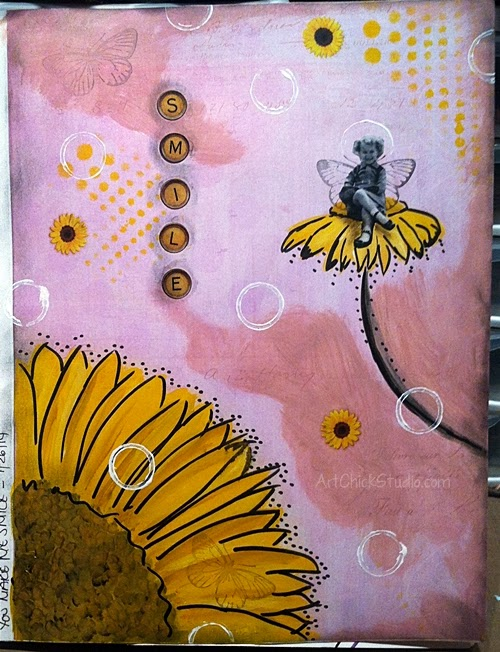 Smile Flower Fairy Art Journal