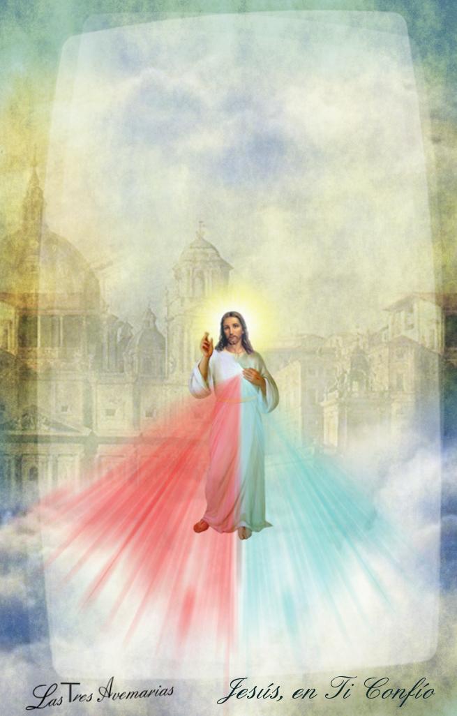 divina misericordia fondo de nubes y cielo