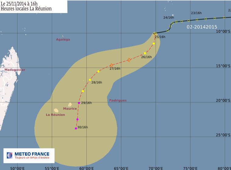 La perturbation tropicale 2 est suivie par le CMRS