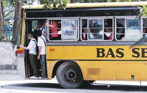 Tambang Bas Sekolah Naik!