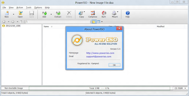 Free Download Power ISO 5.5 Full Version