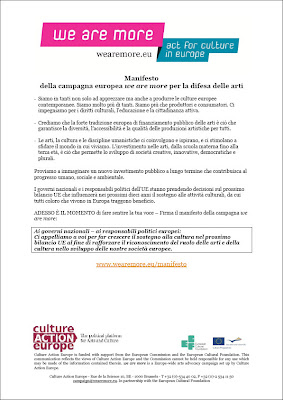 il manifesto della campagna europea we are more