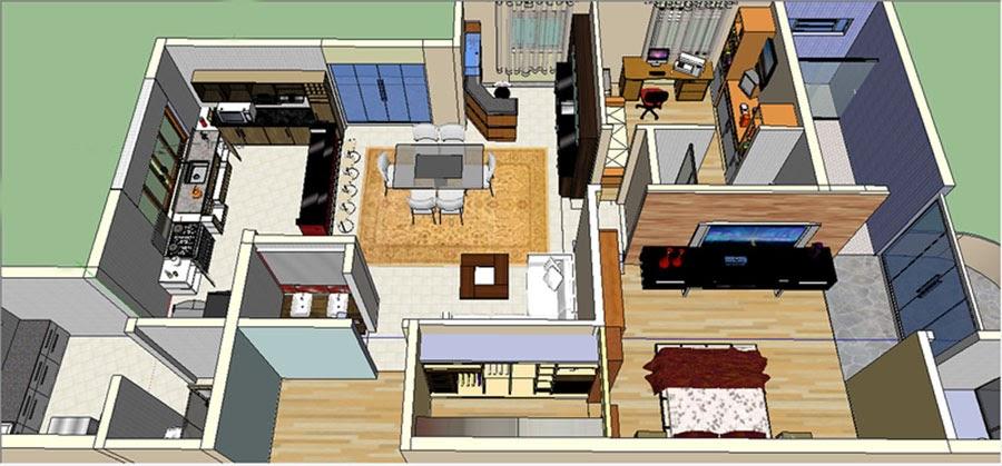 Elaine dellaqua projetos de interiores e maquetes 3d for Curso de design de interiores no exterior
