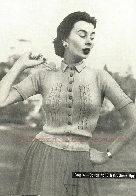 free vintage knitting patterns 1950s cardigan twinprufe spring subversive femme