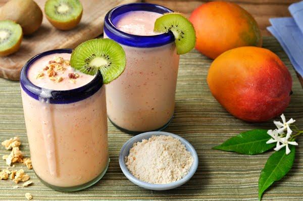 blended sunwarrior protein shakes