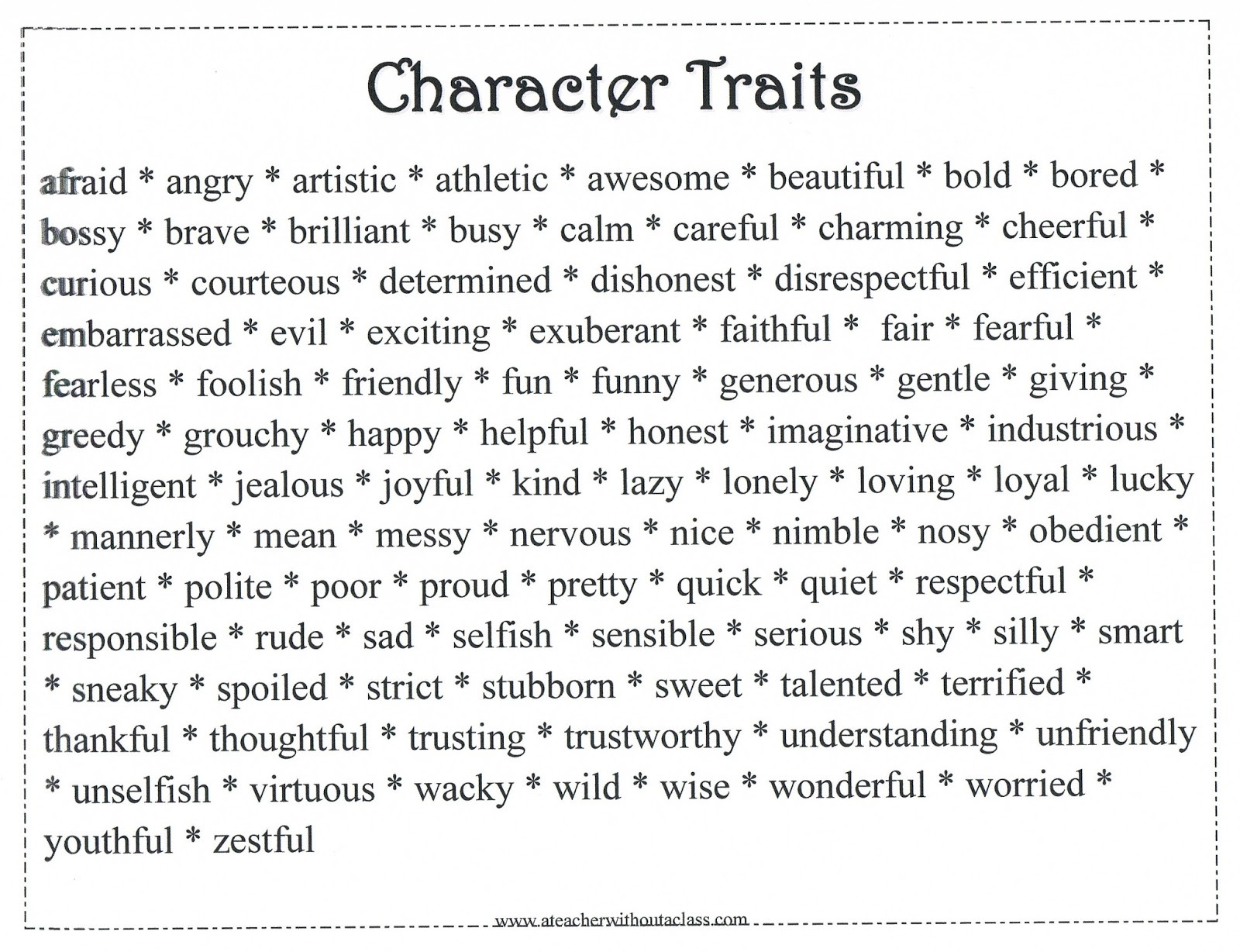 Character Traits Related Keywords & Suggestions - Character Traits ...