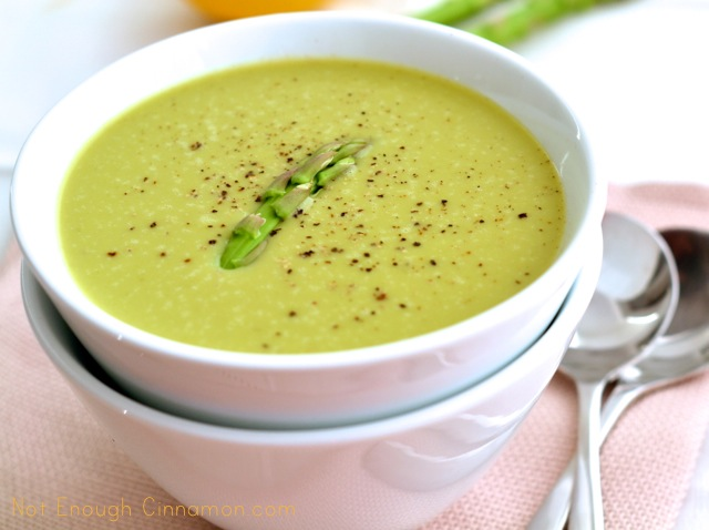 ... and enjoy this easy soup recipe – Cream of Asparagus Soup recipe