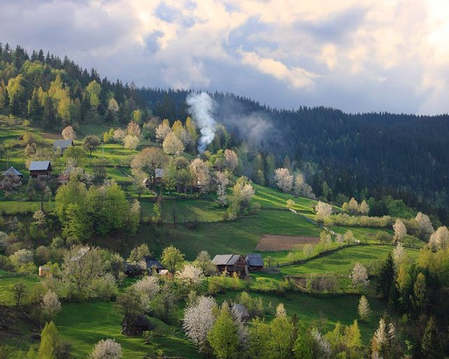 Bucovina at the border of Romania & Ukraine
