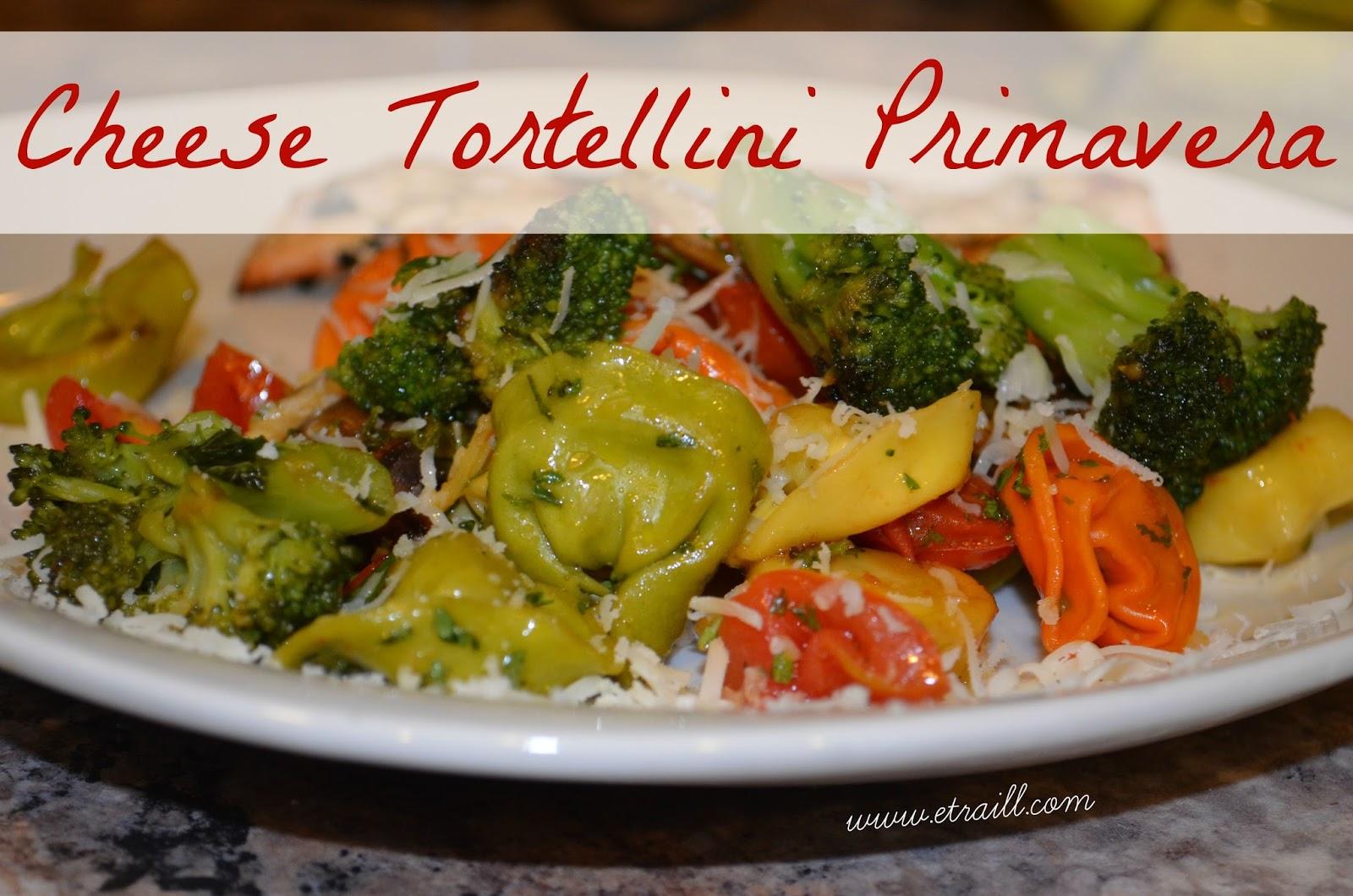 coach, healthy recipe, side dish, cheese tortellini primavera ...