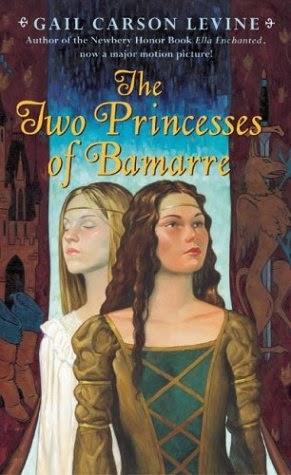 Book cover for The Two Princesses of Bamarre by Gail Carson Levine