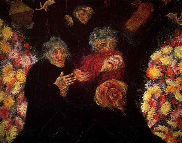 mourning, expressionism,boccioni