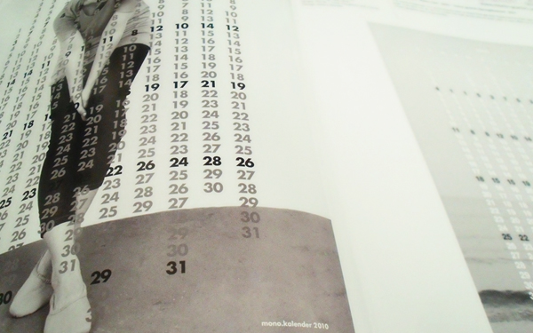 creative calendar collection - mono gramm