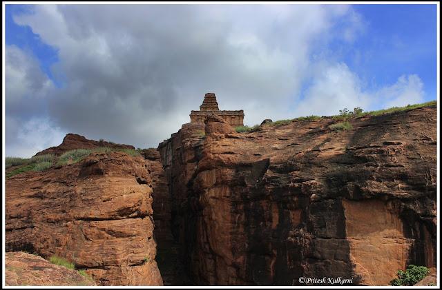 Upper Shivalaya view from Lower Shivalaya, Badami