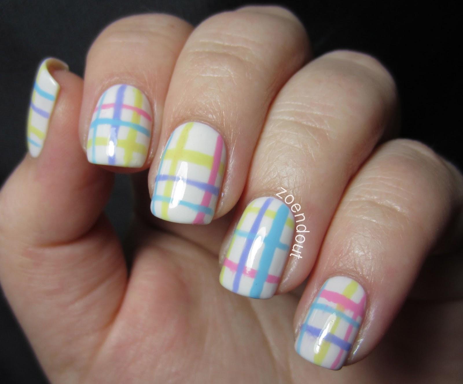 Zoendout Nails: Pastel Plaid