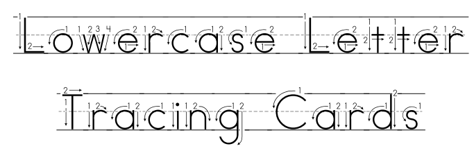 Doodlebug's Homeschool: On the Go..Tracing Upper and Lowercase ...