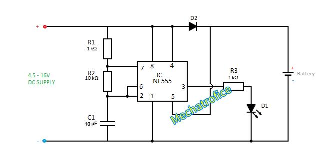 battery charging rate indicator circuit