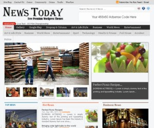 News Today WordPress Theme