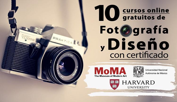 10 cursos online gratuitos de fotografía y diseño (con certificado
