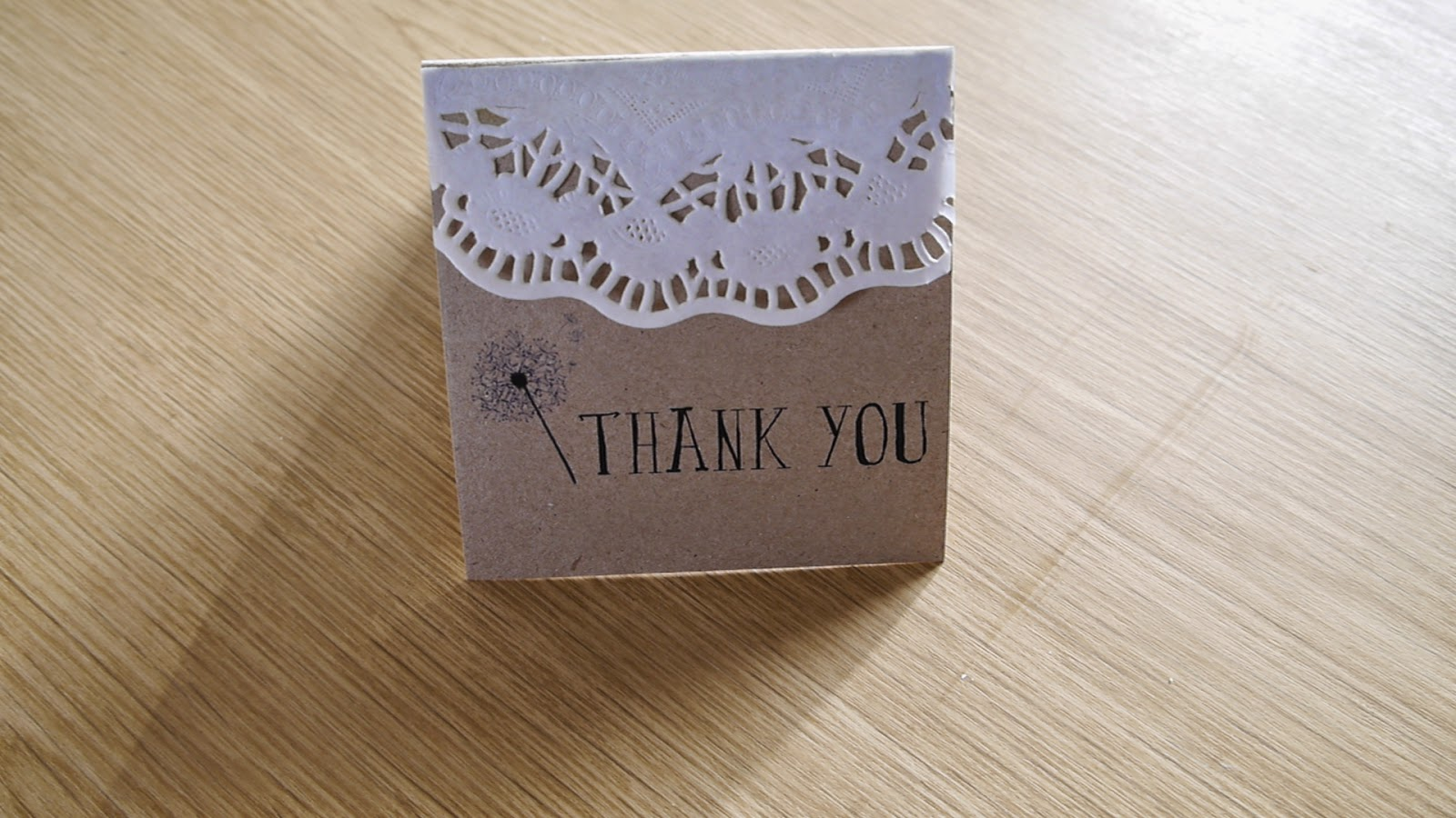 DIY rustic bohemian thank you card