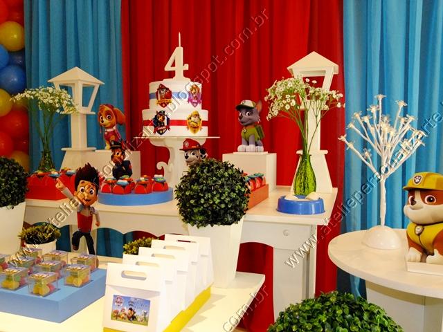 decoracao festa infantil patrulha canina : decoracao festa infantil patrulha canina:Decoração de festas, lembrancinhas personalizadas, bolos