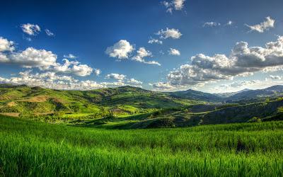 Colinas bajo el sol - Sunny green hills - Paisajes verdes