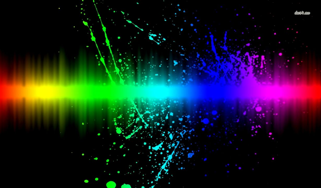 5250 rainbow splash 1366x768