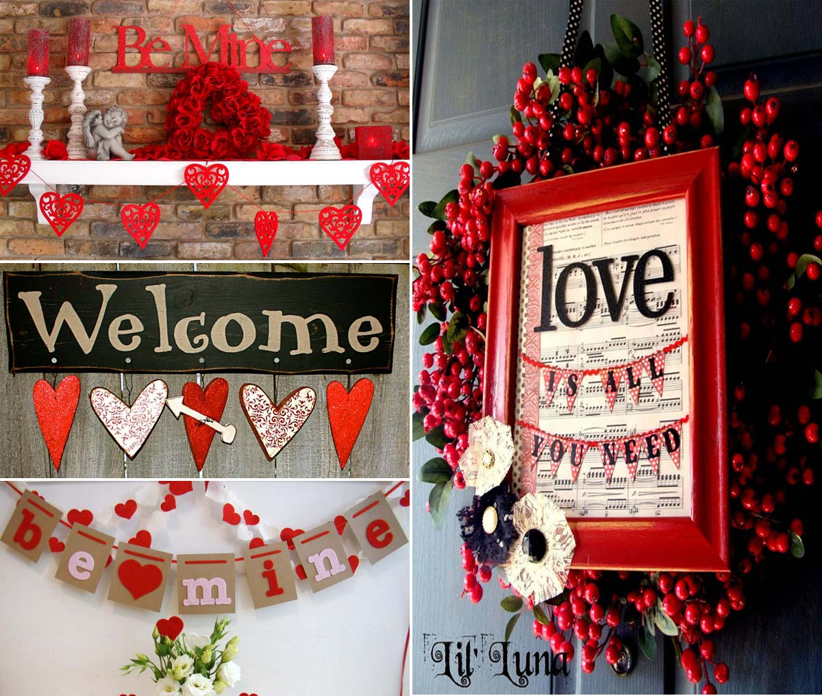 Valentine 39 s day decorations ideas 2016 to decorate bedroom for Valentine s day room decor