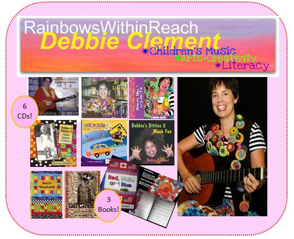 photo of: HUGE GIVE-AWAY of one entire set of Debbie Clement materials: 6 CDs + 3 Picture Books