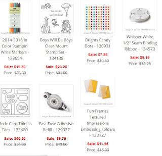 Weekly Deals September Zena Kennedy independent stampin up demonstrator