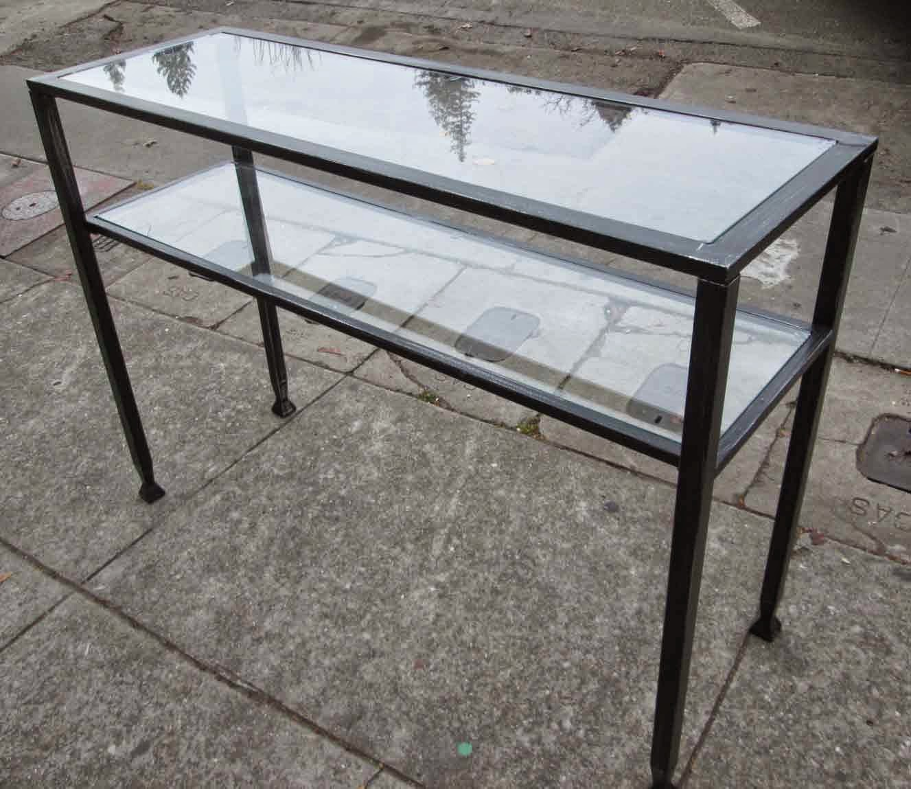 Metal Foyer Table : Uhuru furniture collectibles sold glass and metal