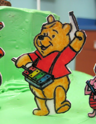 Winnie the Pooh Marching Band Cake - Close-Up of Winnie the Pooh