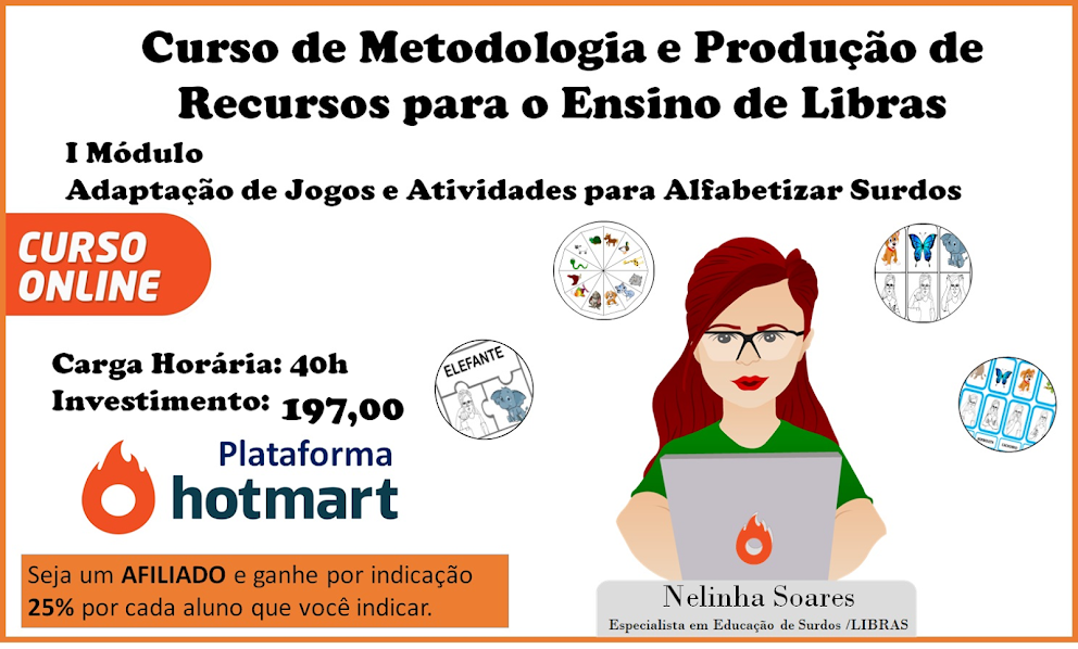CURSO DE METODOLOGIA  E PROD. DE RECURSOS PARA O ENSINO DE LIBRAS