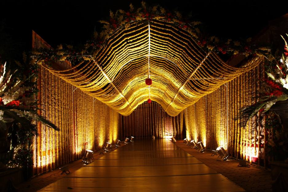 Beautiful design of wedding hall for functions with for Wedding hall design