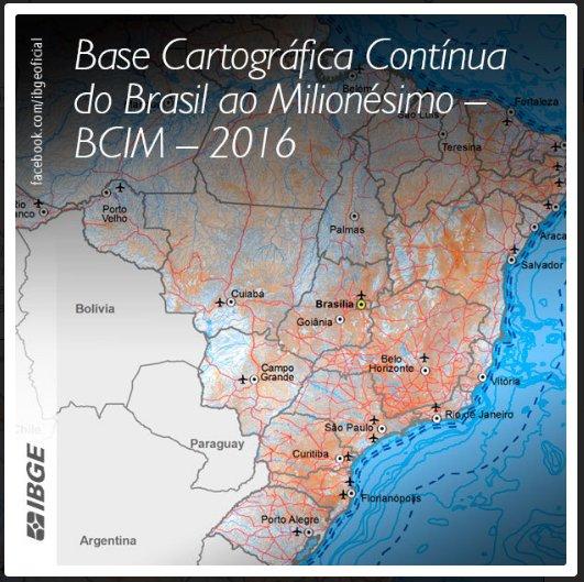 Base Cartográfica Contínua 2016 - IBGE