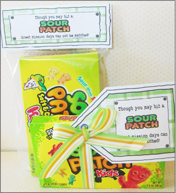 """Parties and Patterns: Missionary Candy Sayings """"Sour Patch"""""""