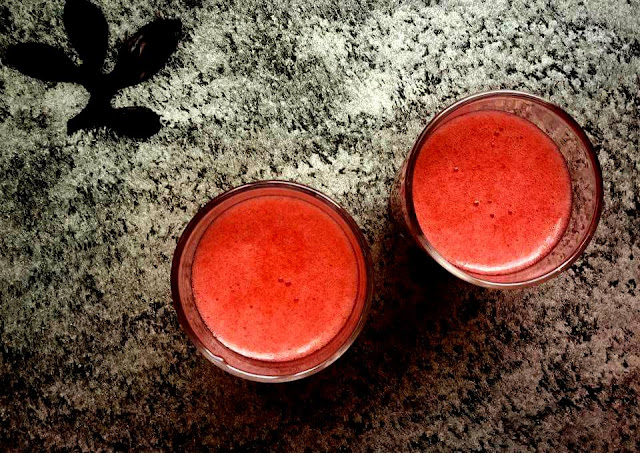 Spiked Plums & Strawberries Juice - The Ultimate Refresher Drink!Drinks