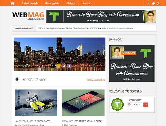 Webmag platilla
