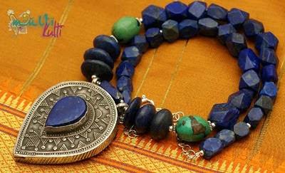 naszyjnik z lapis lazuli