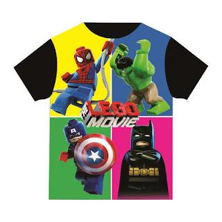 Baju Anak Karakter Hero Lego Dream Kids Size 2 - 12 Tahun