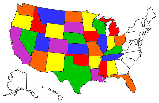 States I've Camped In