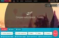 Momondo: permite buscar y comparar vuelos, hoteles, y coches de alquiler, para encontrar el precio más barato
