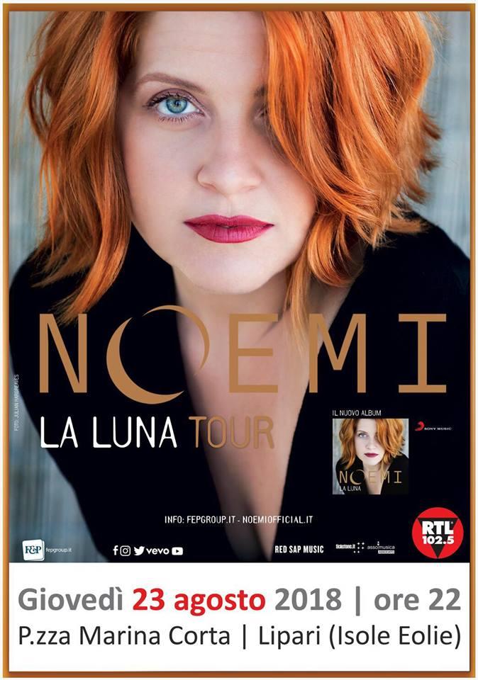 NOEMI concerto a Lipari