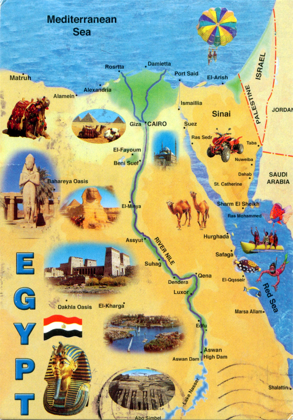 Map Of Egypt Today - Map of egypt with pyramids