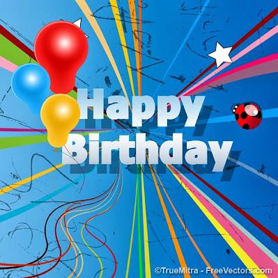 Happy Birthday celebración motivos
