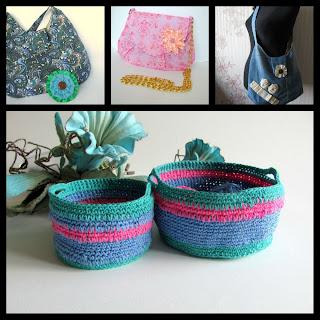 рукодельный коллаж, вязание, шитье, сумки