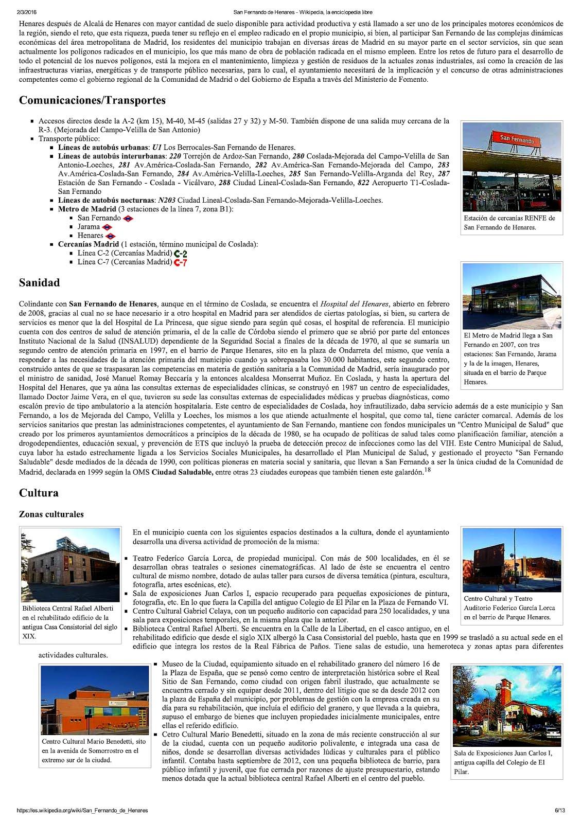 San Fernando en Wikipedia 2016.6
