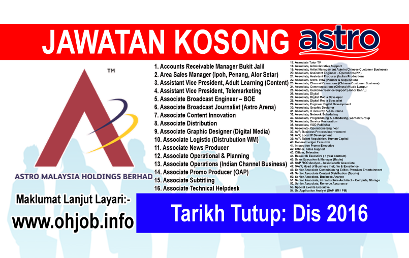 Jawatan Kerja Kosong Astro Malaysia Holdings Berhad logo www.ohjob.info disember 2016