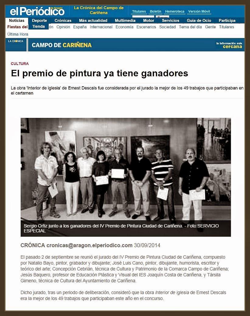 CARIÑENA-PINTURA-CONCURSO-PREMIOS-ARAGON-PERIODICO-NOTICIAS-FOTOS-PINTOR-ERNEST DESCALS