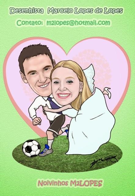 Caricatura de noivos