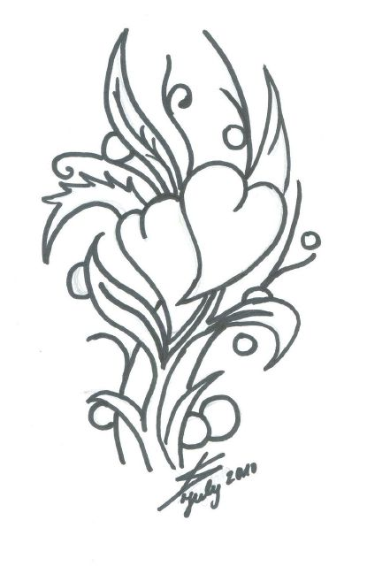 Drawings of Hearts and Flowers | Flower Tattoos|Lotus ...
